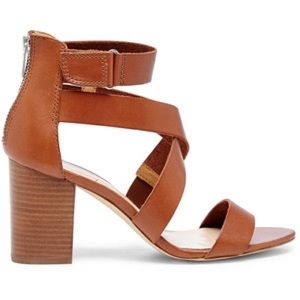 Sole Society cognac block heeled sandal